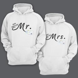 """Парные толстовки с капюшоном для молодоженов """"Mr."""" и """"Mrs."""""""
