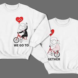"""Парные свитшоты для влюбленных """"We go"""" (""""мы едем"""") и """"Together"""" (""""вместе"""")"""