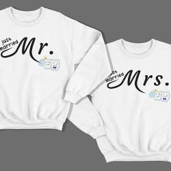 """Парные свитшоты для молодоженов """"Mr."""" и """"Mrs."""""""