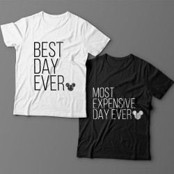 "Парные футболки для влюбленных ""Best day ever""/""Most expensive day ever"""