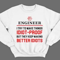 """Прикольные свитшоты с надписью """"Engineer..."""" (""""Инженер..."""")"""