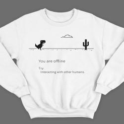"""Прикольные свитшоты с надписью """"You are offline"""" (""""Вы в оффлайне"""")"""