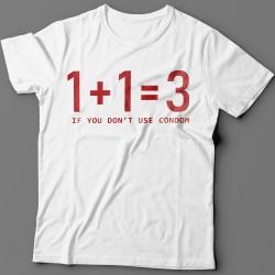"""Прикольные футболки с надписью """"if you don't use condom"""""""