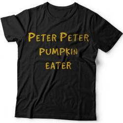"""Прикольные футболки с надписью """"Peter Peter pumpkin eater"""" (""""Питер Питер тыквоед"""")"""