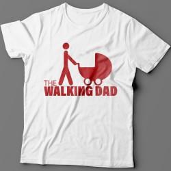"""Прикольная футболка с надписью """"The walking dad"""" (""""ходячий отец"""")"""