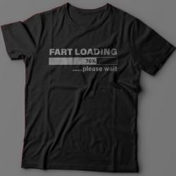 """Футболка с прикольной надписью """"Fart loading..."""" (""""Пук загружается"""")"""