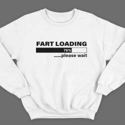 """Прикольный свитшот с надписью """"Fart loading..."""" (""""Пук загружается"""")"""