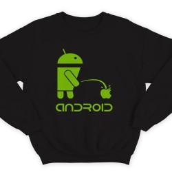 """Прикольный свитшот с надписью """"Android"""""""