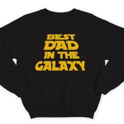 """Прикольный свитшот с надписью """"Best dad in the galaxy"""" (""""Лучший батя в галактике"""")"""