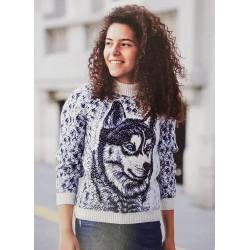 Детский свитер с волком 340-17