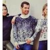 Мужской свитер с заснеженным лесом 230-390