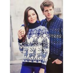 Мужской тёмно-синий свитер 220-160