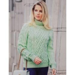 Женский свитер мятный 140-03