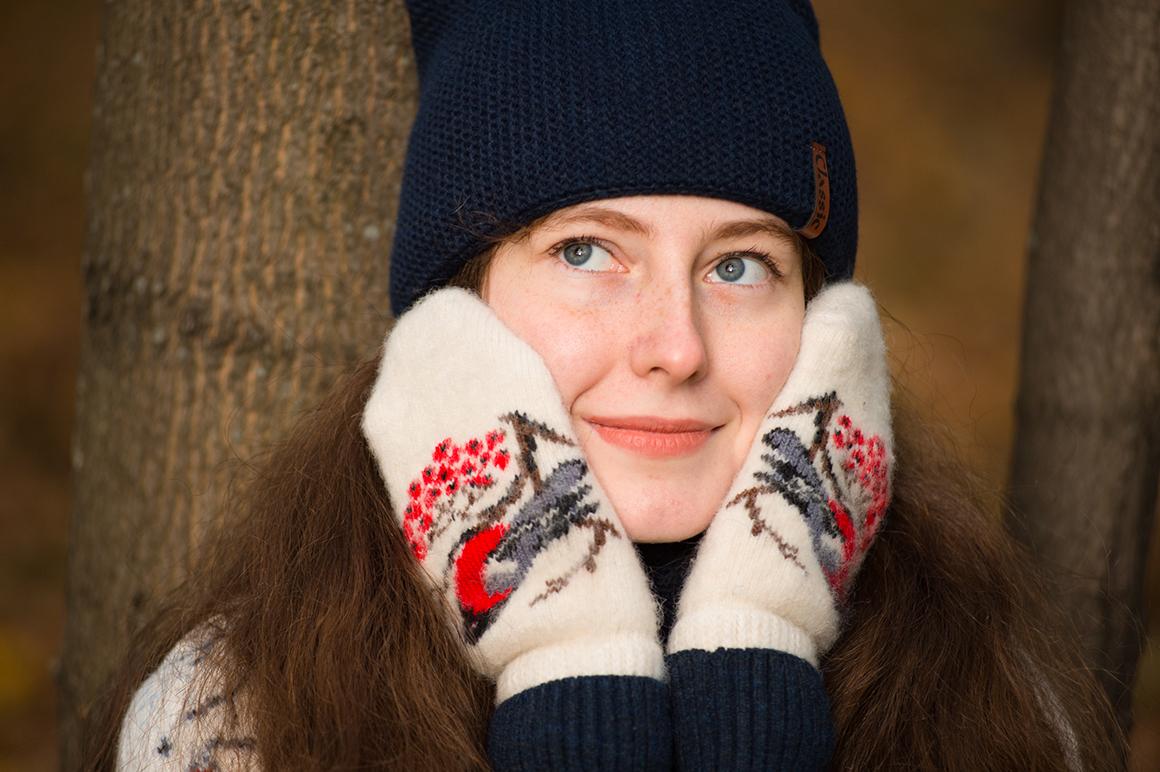 Купить шерстяние варежки в Москве МагазинДжамперов