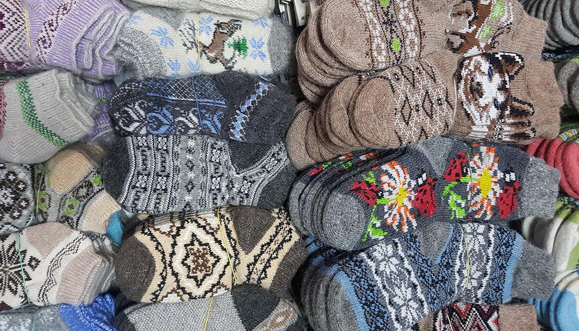 Новогодние шерстяные носки по доступной цене Magazin-Jumperov.ru