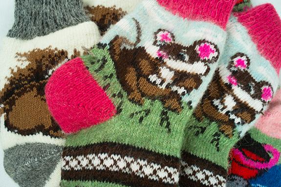 Новогодние шерстяные носки Магазин-Джамперов